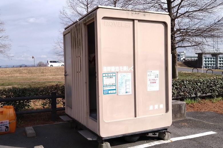 志那1南にある簡易トイレ