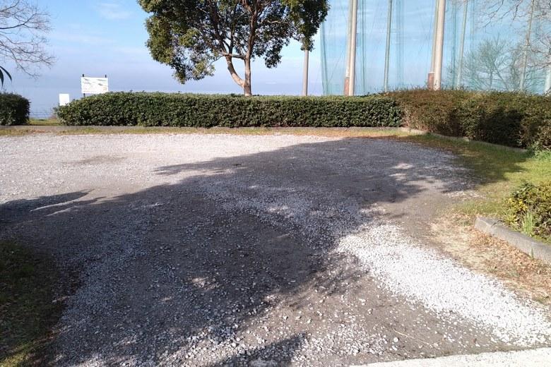 神明浜の駐車場