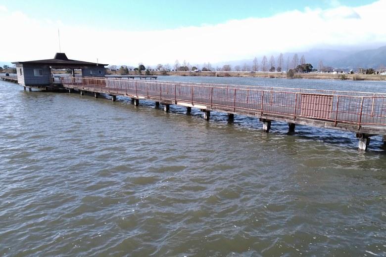 守山市魚つり場の桟橋