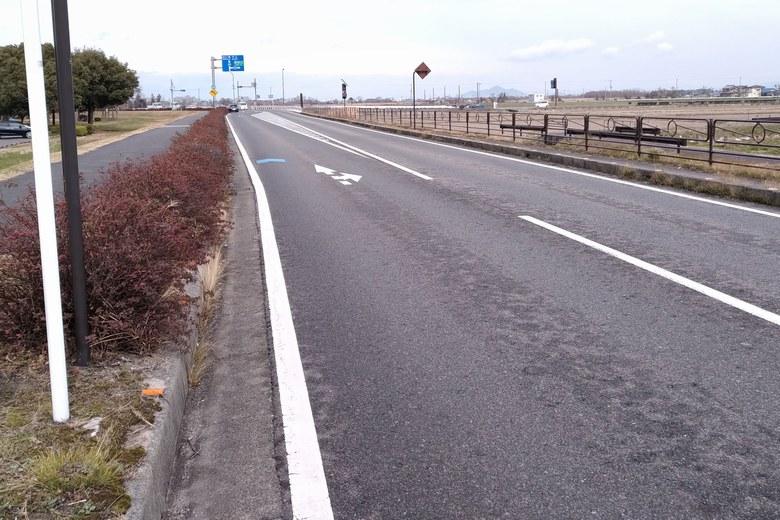 津田江エリアを通る県道559号線