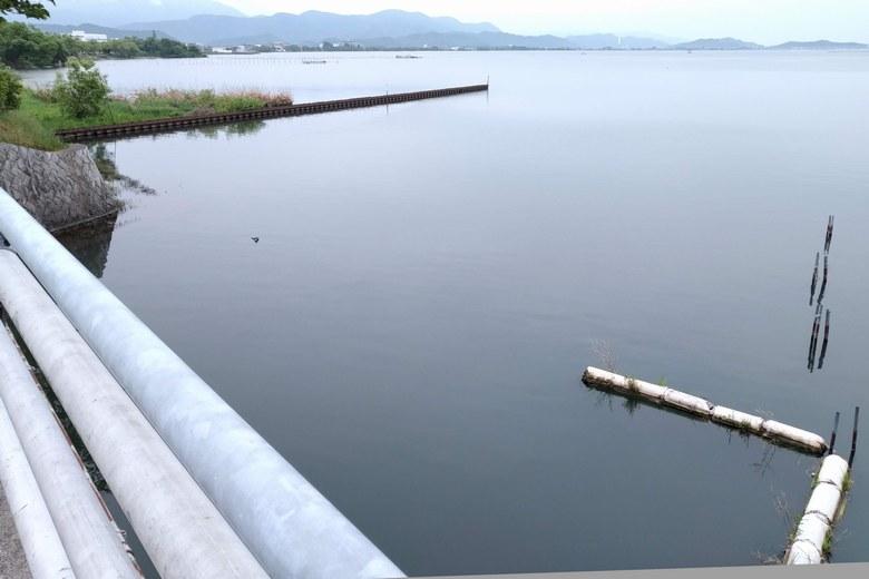 米川橋から見た、米川河口