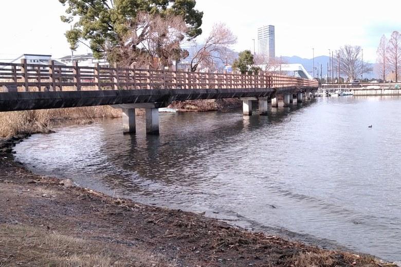 シャローエリアの遊歩道の橋