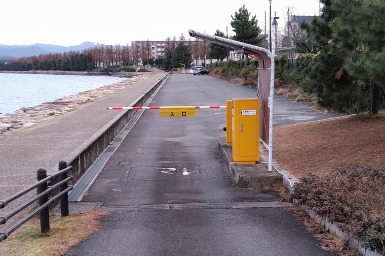 膳所・晴嵐の道B駐車場の入り口