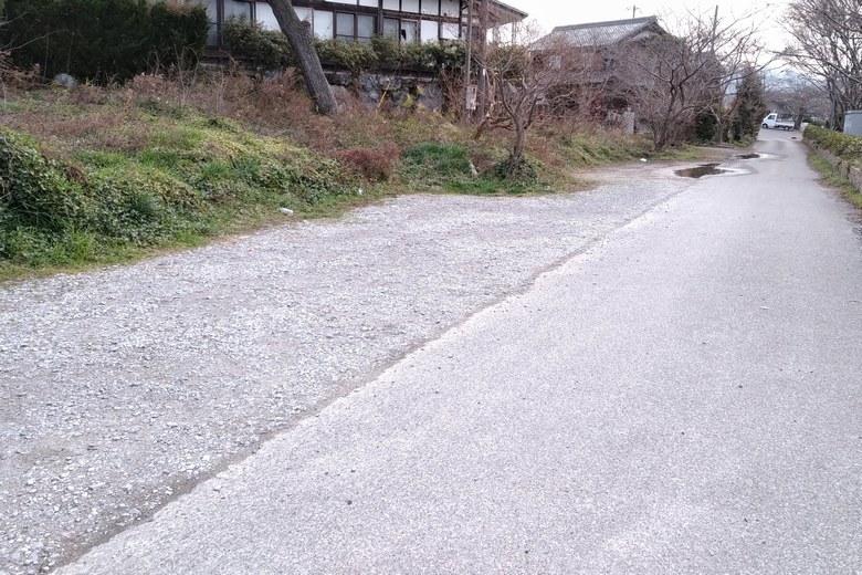 天野川河口の南にある駐車スペース