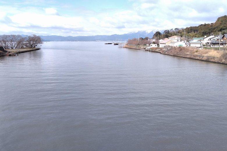 長命寺川の河口