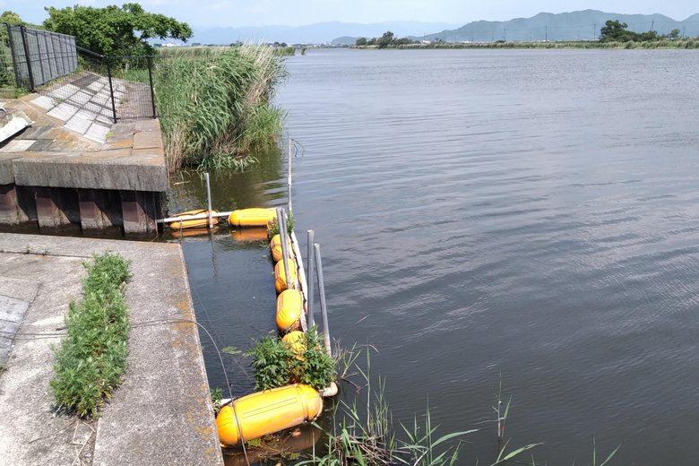 排水機場の前のポイント