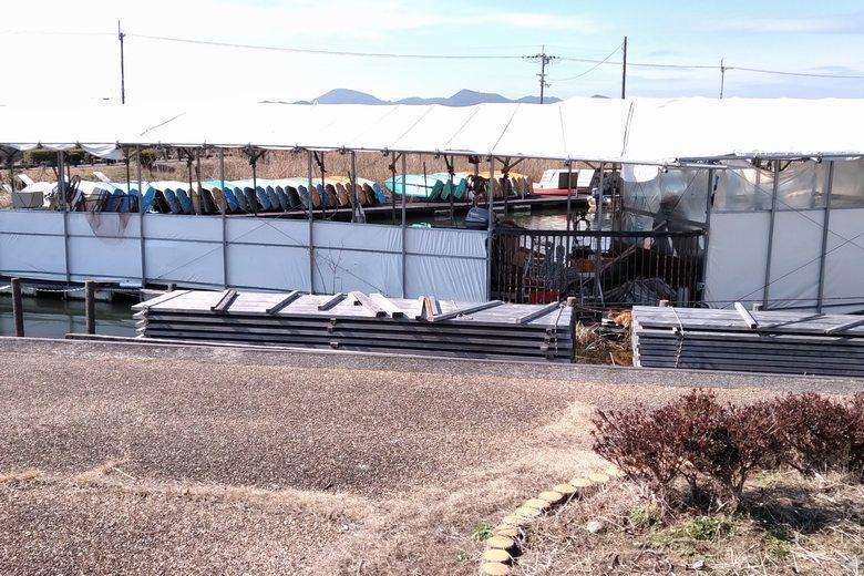 伊庭内湖のレンタルボート