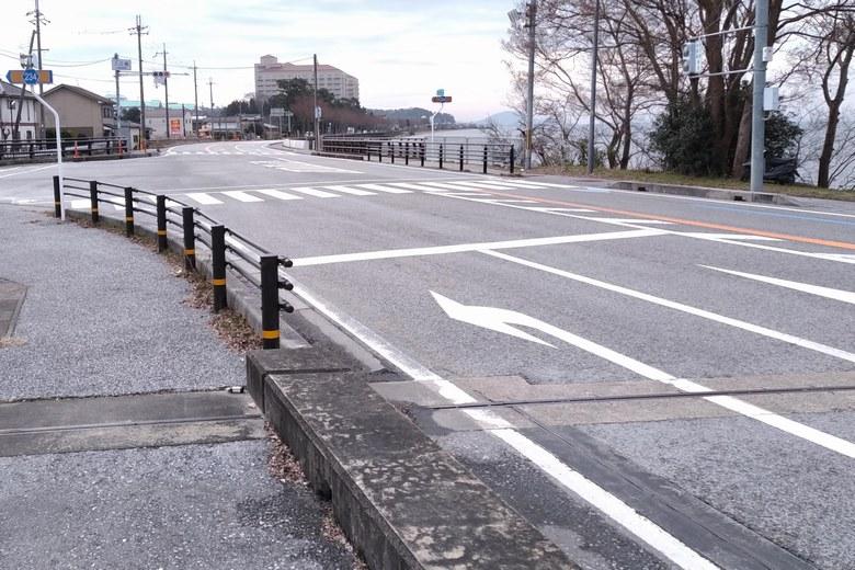 入江橋と県道2号線