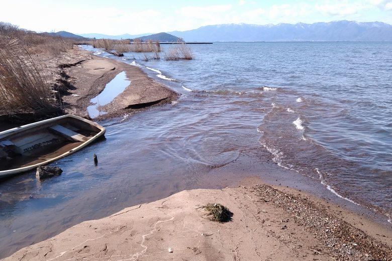 琵琶湖へ流れ出るインレット