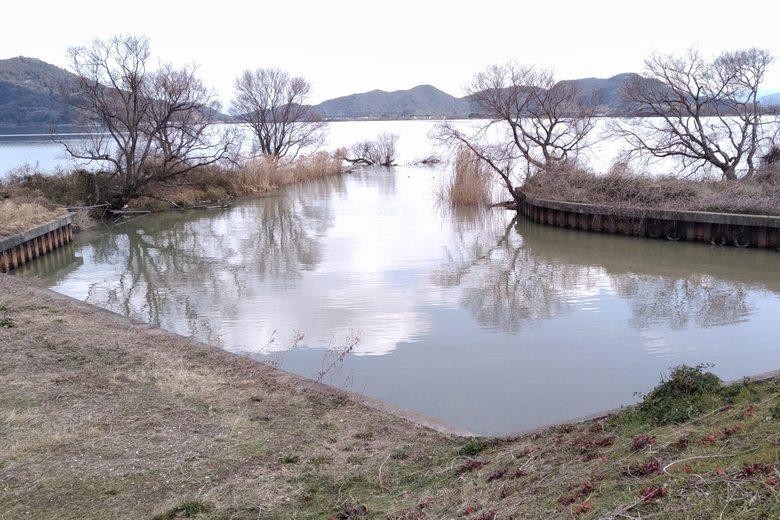 南部承水路の流れ込み