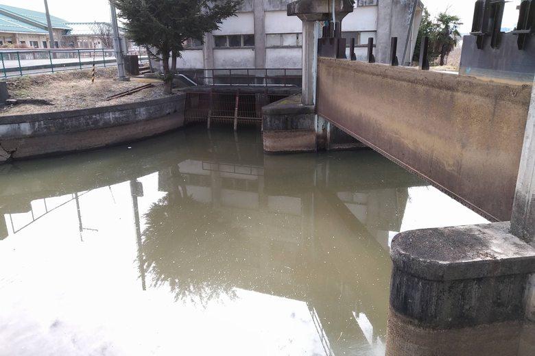 排水機場と水門