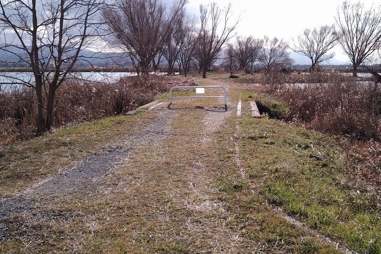 野田沼の岬への歩道