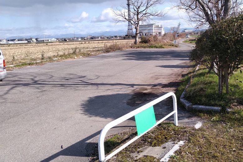 彦根市の野田沼の、北の駐車場