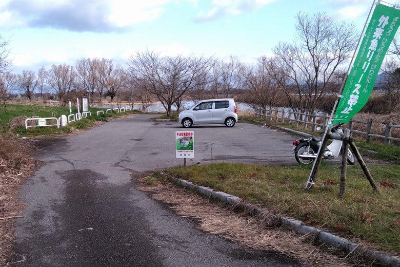 彦根市の野田沼の、南の駐車場