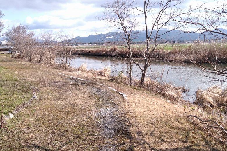 野田沼の北の水路