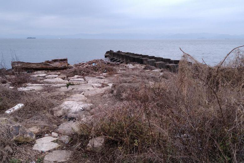 石積みとブロックの突提