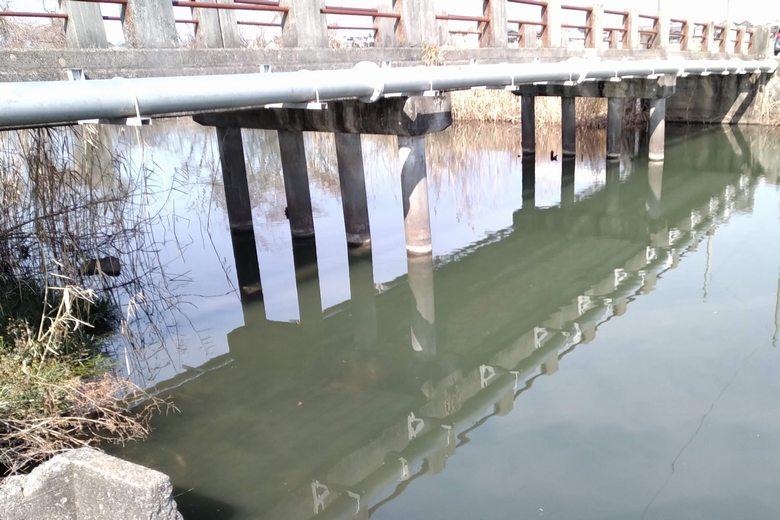 篠田橋の橋脚