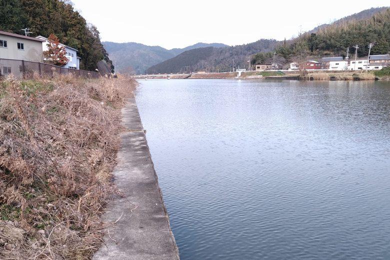 長命寺川の南のコンクリート護岸