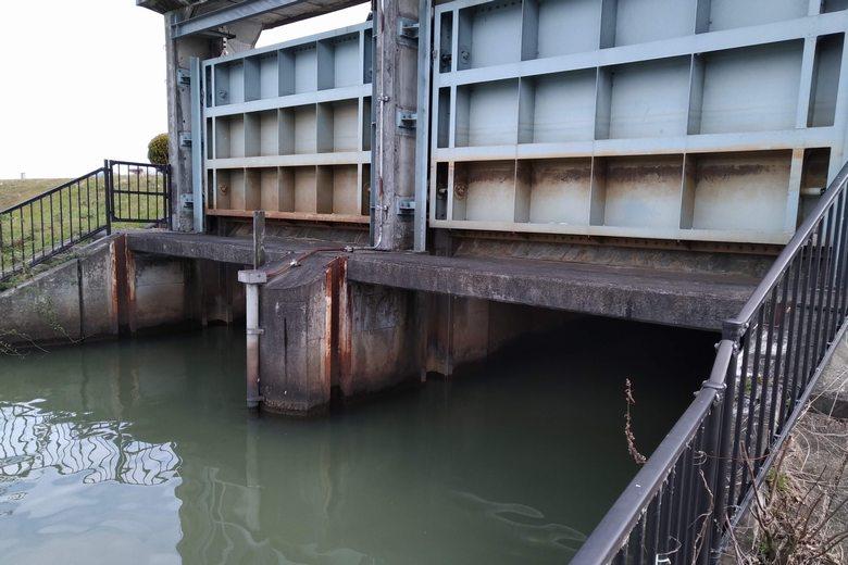 野田排水機場の水門