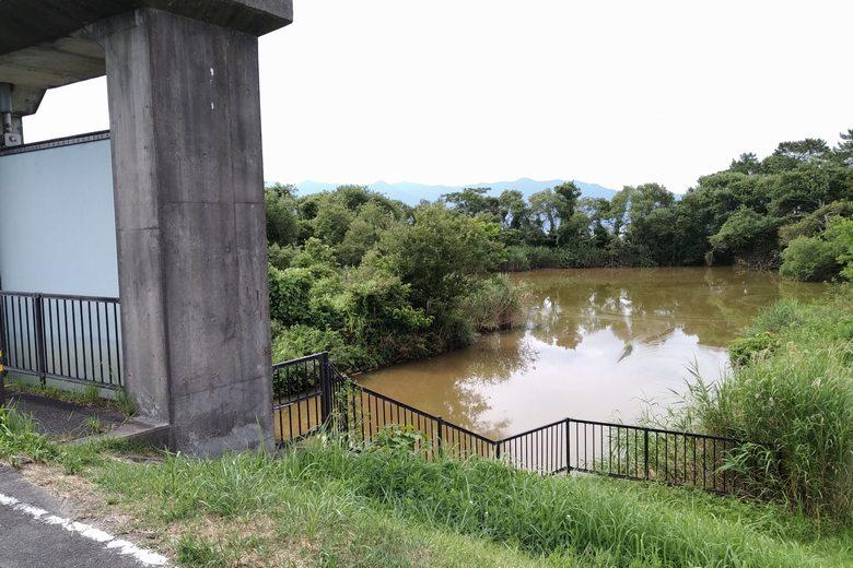 旧野洲川北流の水門と河口