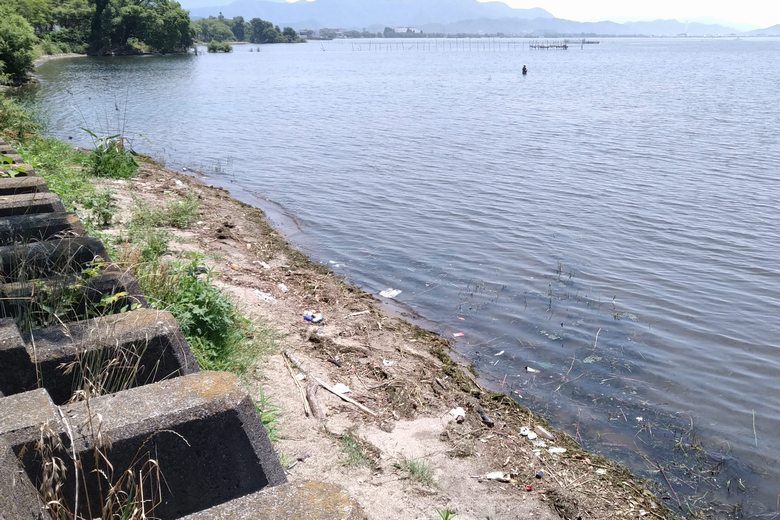 米川河口の東のシャローエリア