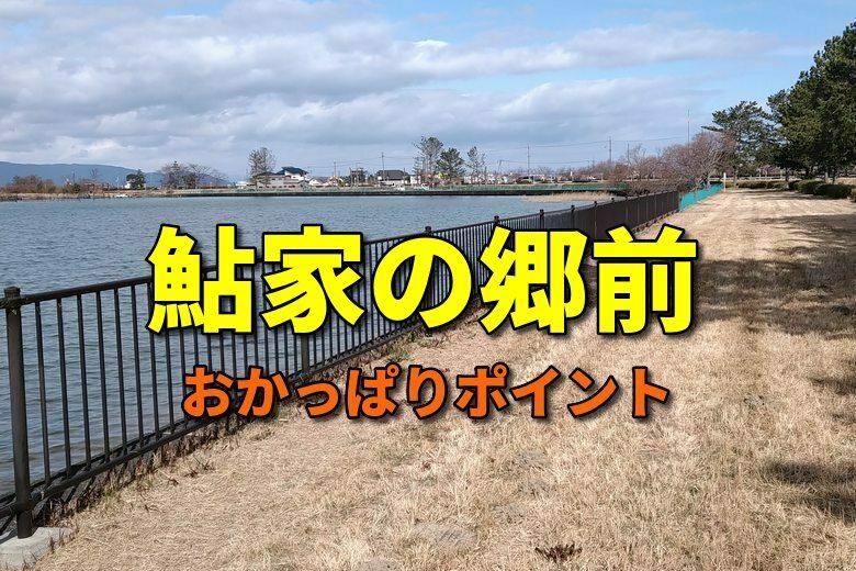 鮎家の郷前のおかっぱりバス釣りポイント