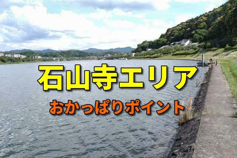 石山寺エリアのおかっぱりバス釣りポイント