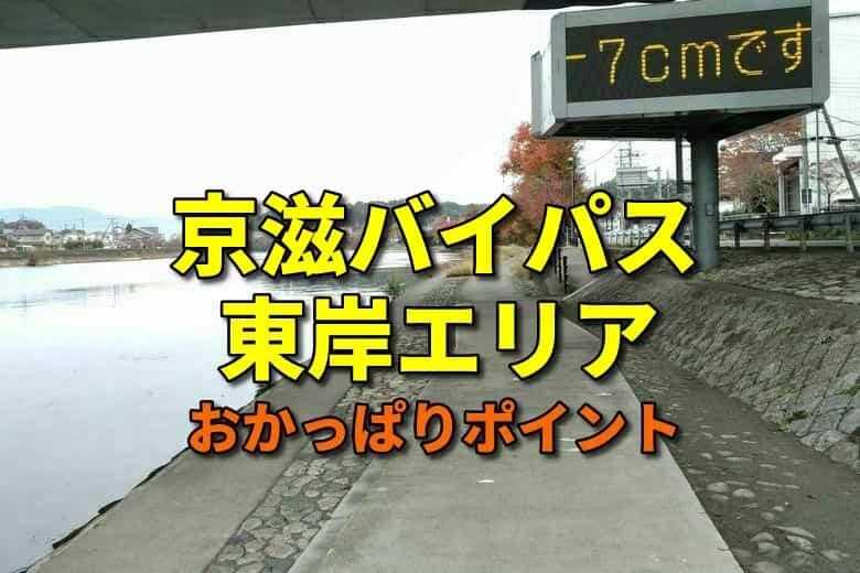 京滋バイパス東岸エリアのおかっぱりバス釣りポイント