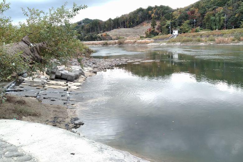 瀬田川に流れ込む小山川