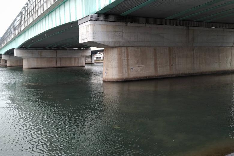 第一橋脚まである浅瀬