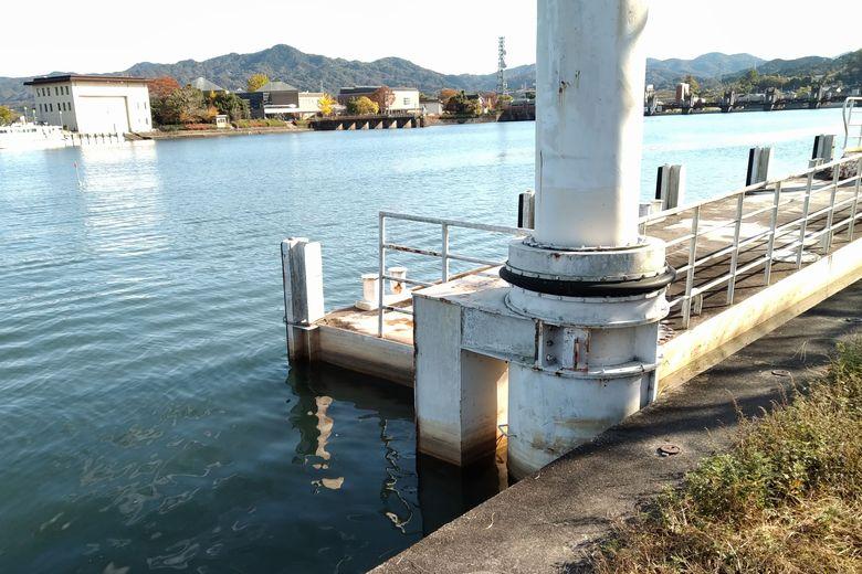 南郷公園の近くにある船着き場