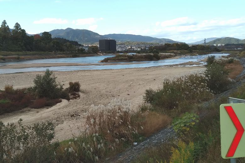 瀬田川と大戸川の合流点