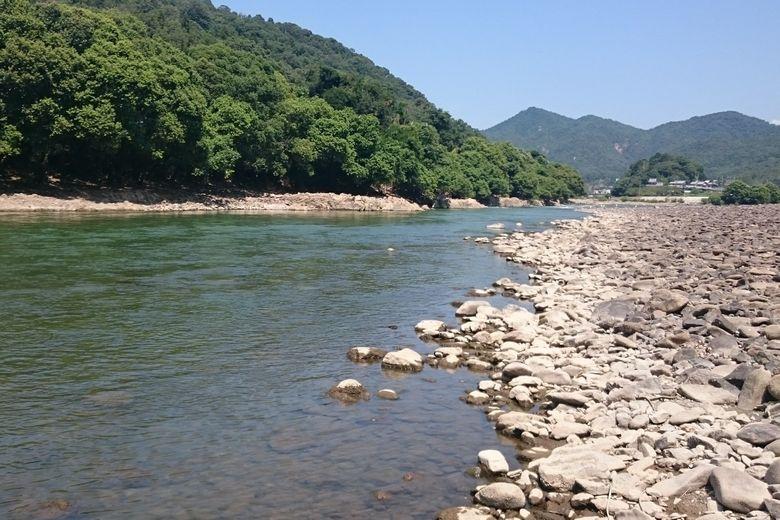 大石エリアの瀬田川