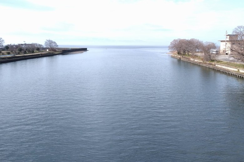 天野川の河口