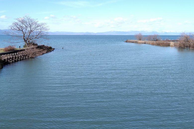 宇曽川の河口