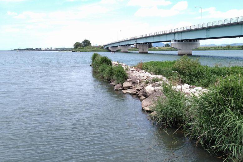 野洲川の河口