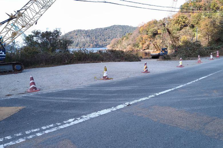 小田ヶ浜にある立入禁止のコーン