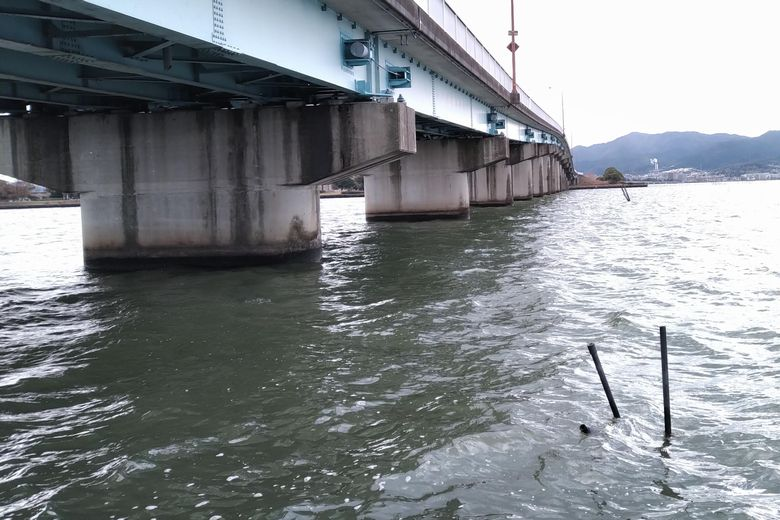 帰帆北橋の橋脚