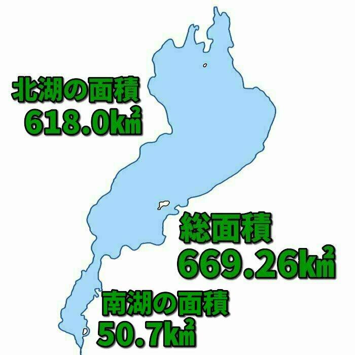 琵琶湖の面積